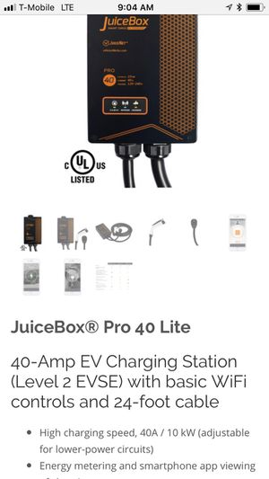 EV Home Charging Station JuiceBox for Sale in Phoenix, AZ