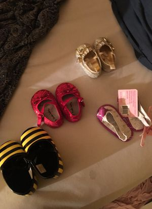 Baby girl shoes size 1 and 2 for Sale in US