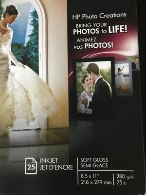 HP Photo Paper 8.5X11 for Sale in Portland, OR