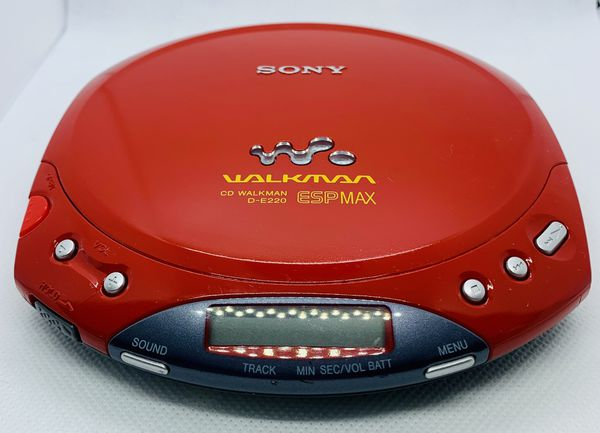 SONY CD Walkman D-E220 ESPMax Vintage Tested