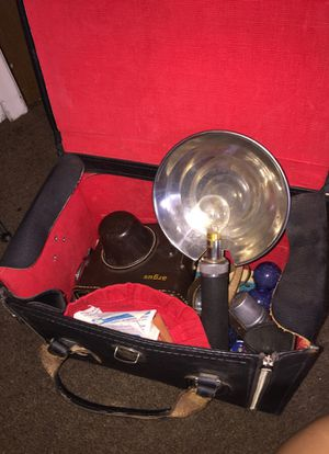 Vintage Camera, Case, and Bulbs for Sale in Tempe, AZ