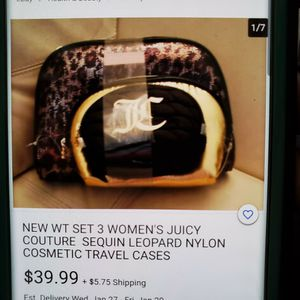 Juicy Couture Cosmetic Cases (Brand New) for Sale in Irving, TX