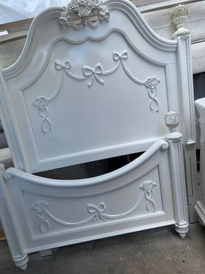 Twin bed frame dresser and 1 night stand mattress with box springs for Sale in Miami, FL