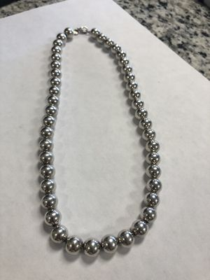 "* Tiffany & Co Sterling Silver necklace 17"" #I-3713 for Sale in Revere, MA"