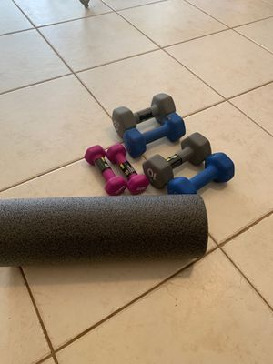 Weights and ab roller for Sale in Riviera Beach, FL