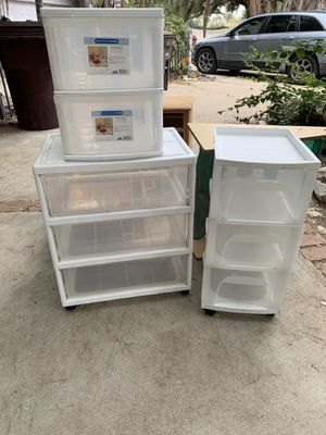 Plastic drawers for Sale in Perris, CA