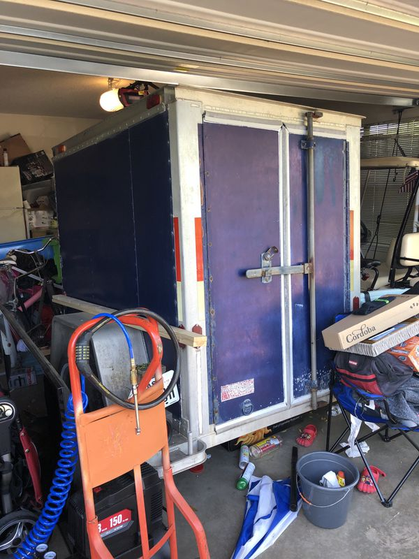 Small Enclosed Cargo Trailer. Fruehauf Trailer