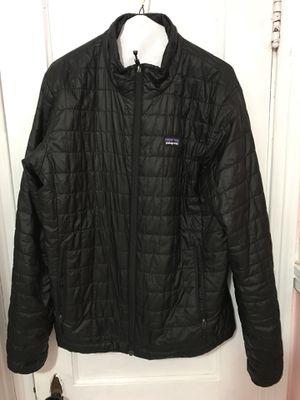 Patagonia nano puff black zipup jacket size M for Sale in Waterbury, CT