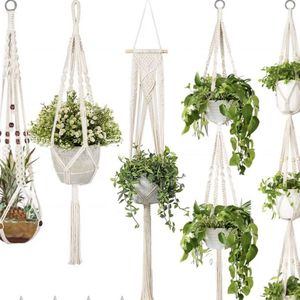 Macrame plant hanger set of 5, macrame wall hanging, garden, pothos for Sale in Houston, TX
