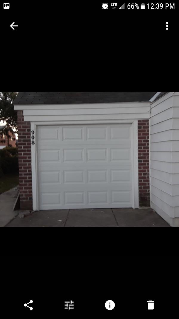 Garage door instalation
