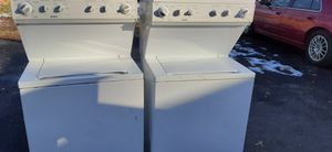 SUPER KING SIZE CAPACITY STACKABLE WASHER AND DRYER ELECTRIC for Sale in Bridgeton, MO