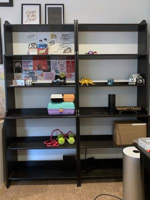 Two Black Bookshelves for Sale in West Los Angeles, CA