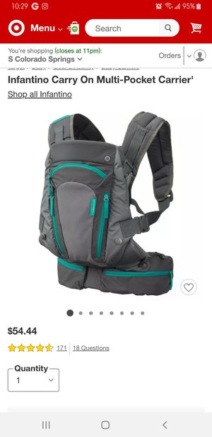 Baby diaper bag and baby carrier for Sale in Fountain, CO