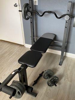 Weight Bench Bundle - CAP & Weider XR6.1 for Sale in Laguna Hills,  CA