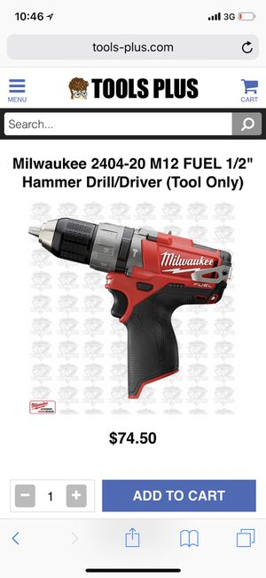 Milwaukee fuel 12v hammer drill for Sale in Alexandria Bay, NY