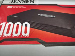Car amplifier : Jensen 1000 watts 1 channel mono block 2-4 ohm stable built in crossover 30a×2fusea & bass control brand new for Sale in Bell Gardens, CA