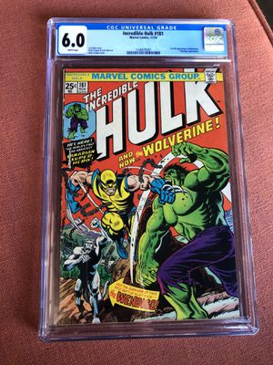 HULK 181 grade 6.0 white pages for Sale in Newport Beach, CA