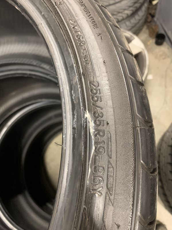 I have 4 tires 85% TOYO Proxes T1 sport 255-35R19 96Y