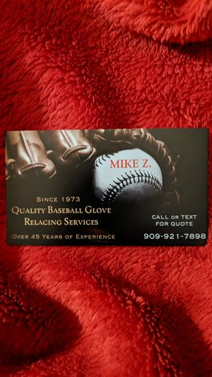 Quality Baseball Glove relacing for Sale in Upland, CA
