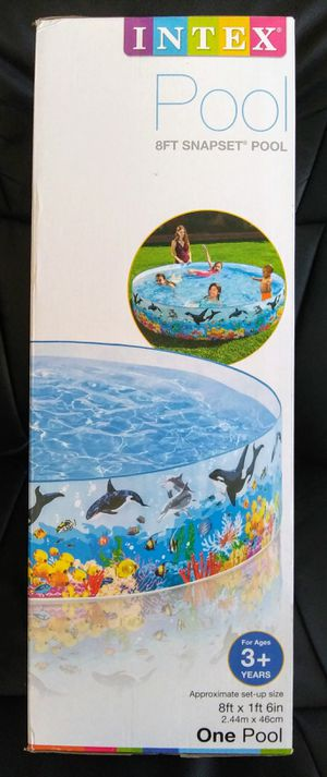 Intex Crystal Blue Swimming Pool 58in x13in for Sale in San Diego, CA