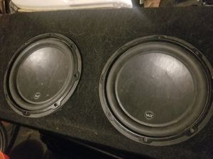 2 JL Audio W3 subwoofers in slim box for Sale in Littleton, CO