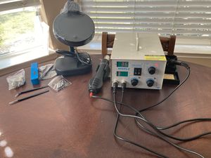 Brand new in box soldering station with heat gun and lamp for Sale in Flower Mound, TX