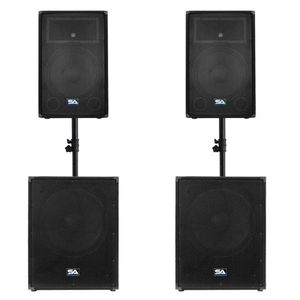 "DJ Equip Seismic Audio Enforcer II 18"" Chest Thumping Pro Audio Sub-Woofers Passive (Pair) & 12"" Pro Audio PA/DJ Speakers Cabinet Tiatanium Passive for Sale in Dallas, TX"