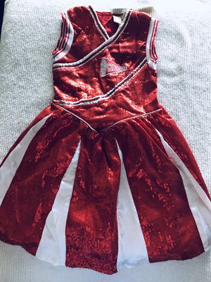 GIRL RED/WHITE SEQUINS CHEEER LEADER's COSTUME DRESS SIZE 7-8 for Sale in Babson Park, FL