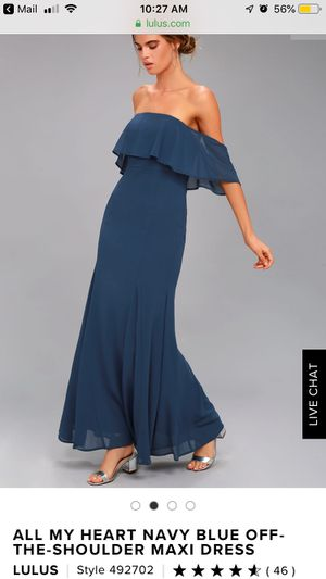 """Off the shoulder maxi dress """"Lulus"""" for Sale in Los Angeles, CA"""