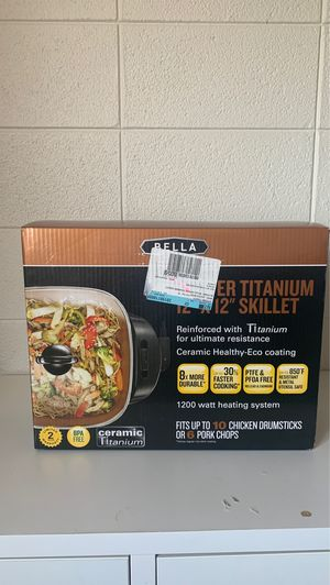 Bella Copper Titanium 12 x 12 Skillet for Sale in Sioux City, IA