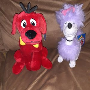 2002 Scholastic Clifford the Big Red Dog and Cleo Stuffed Toys. for Sale in Los Lunas, NM