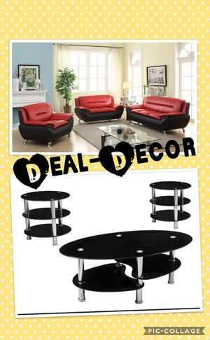 Red/Black Living Room Combo Set for Sale in Atlanta, GA
