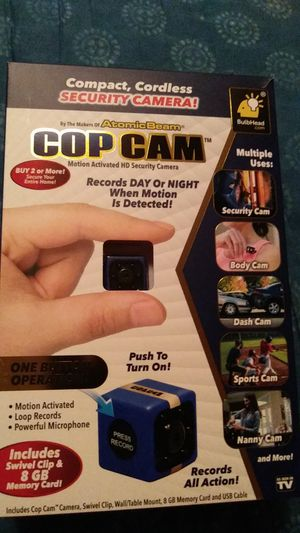 Cop cam motion activated HD camera for Sale in Edgewood, WA