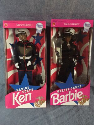 VINTAGE RARE AFRICAN AMERICAN MARINE CORPS BARBIE MIB SEARS SPECIAL ORDER for Sale in Milton, DE