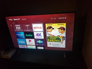 "TCL 49"", 2160p, UHD, 4K Smart, with Roku TV for Sale in Tempe, AZ"