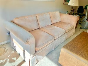 Sofa Couch Comfortable Velvet Great Condition Peach for Sale in Carmichael, CA
