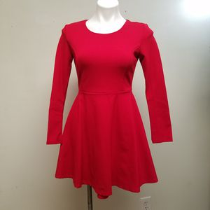 Lulus red long sleeves mini princess Dress Size small for Sale in Powder Springs, GA