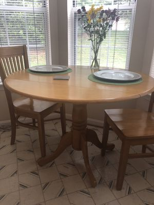 Breakfast wood table and 2 wood chairs for Sale in Germantown, MD