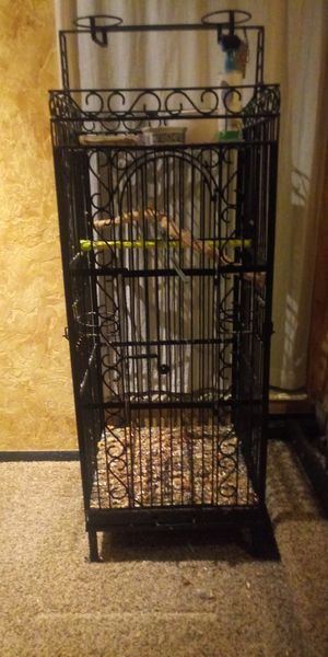 Iron Bird Cage m/L bird for Sale in Lehi, UT