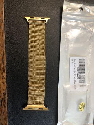 42mm smartwatch goldtone Apple compatible band for Sale in Moneta, VA