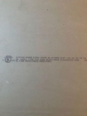 Fire resistant sheet rock for Sale in Manteca, CA