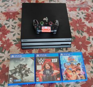 PS4 pro 1tb black come with HDMI cable 3 games 1 control work well buenas condiciones 👍 for Sale in Phoenix, AZ