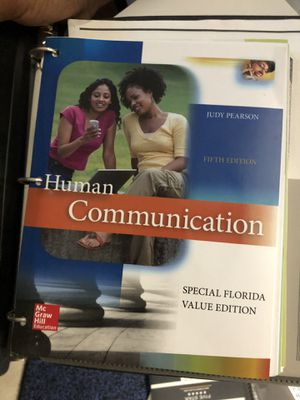 Speech Communication textbook for students taking SPC 1024 or any public speaking courses for Sale in Tamarac, FL