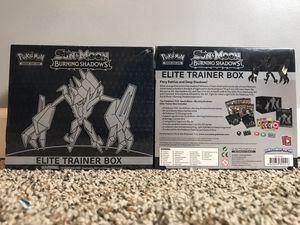 "Pokèmon Sun&Moon ""Burning Shadows"" Elite Trainer Box Pack of 2 for Sale in Tennerton, WV"