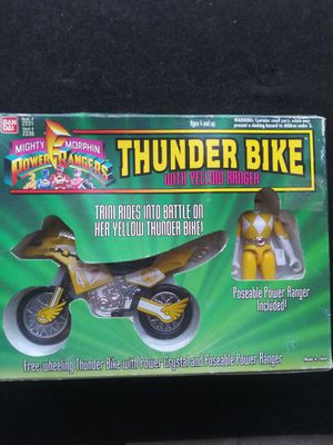 Power Ranger Thunder Bike Yellow Ranger Mint in Box for Sale in Corona, CA
