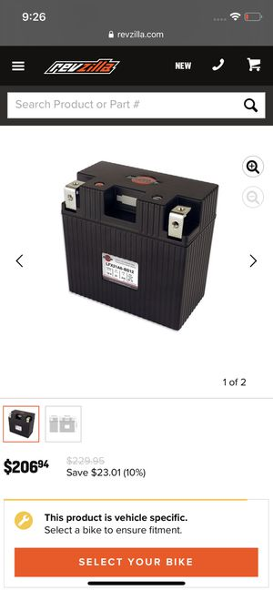 Motorcycle battery Shorai LFX21A6-BS12 for Sale in San Diego, CA