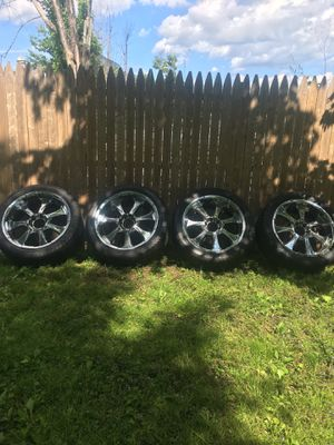 22 Inch Chrome Rims & Tires for Sale in Rockland, MA