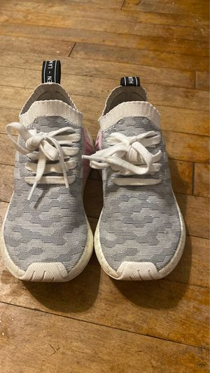 Adidas grey pink and white size 5 1/2 for Sale in Milwaukee, WI