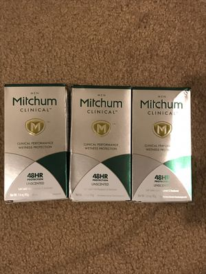 (3) Pack Men Mitchum Clinical Performance Wetness Protection 48hrs for Sale in Arlington, VA