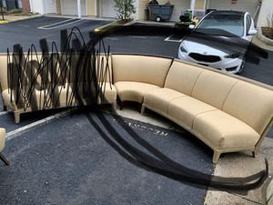 Two piece couch and center piece for Sale in Alexandria, VA